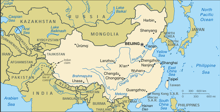 Cia World Map Of China