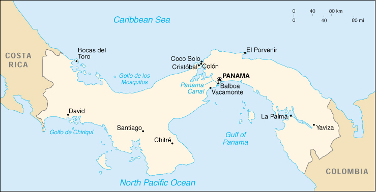 Cia World Map Of Panama