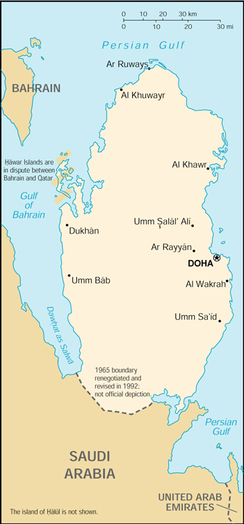 Cia World Map Of Qatar