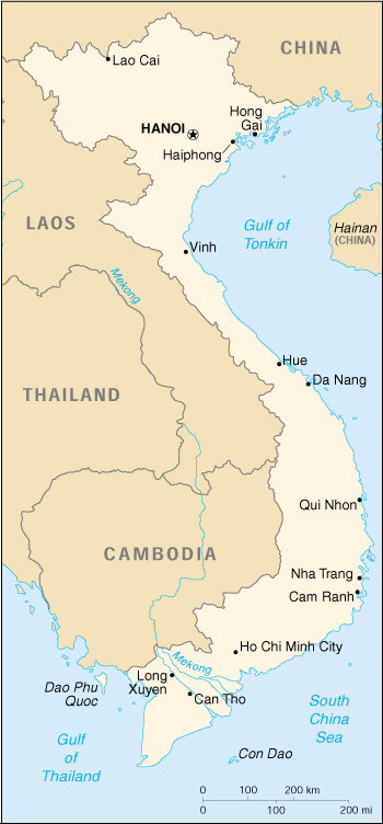 Cia World Map Of Vietnam
