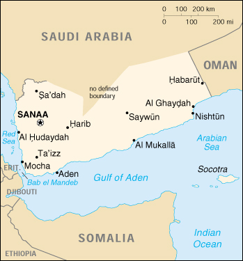 Cia World Map Of Yemen
